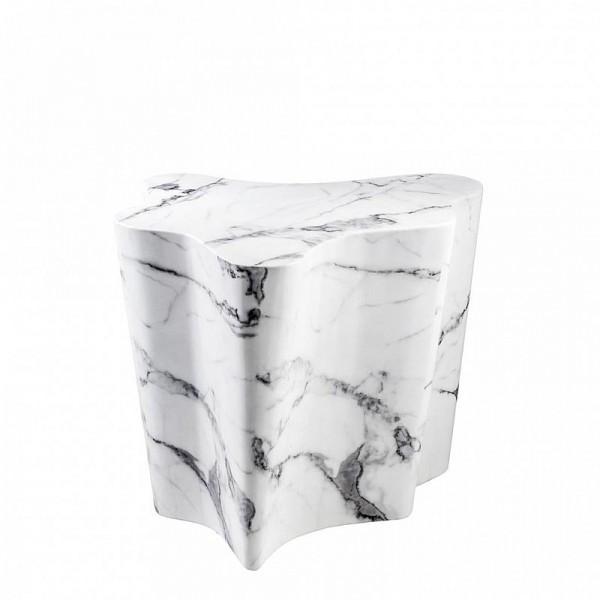 EICHHOLTZ Beistelltisch Sceptre Faux marble white