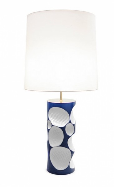 BRABBU Amik Tischlampe blau