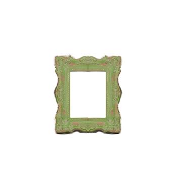 Grüner Barock-Bilderrahmen