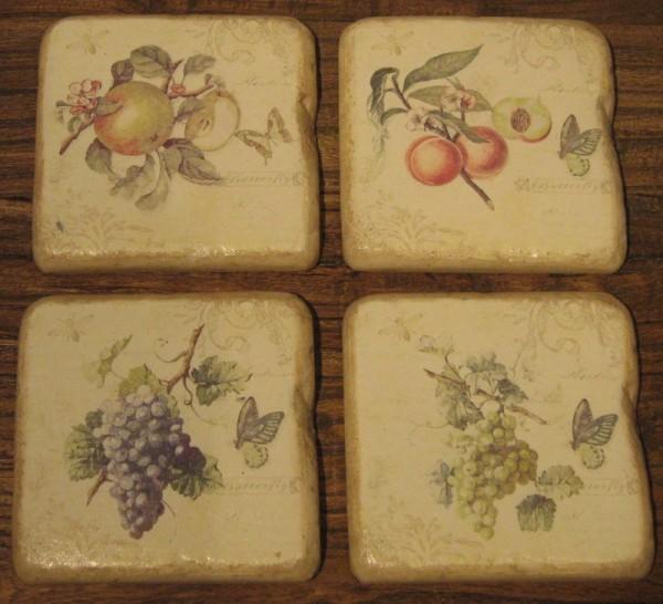 Appletree Untersetzer Grapes Set von 4
