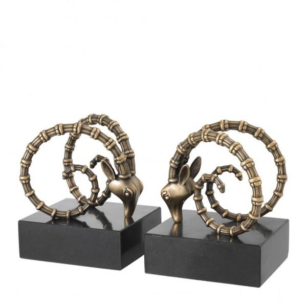 EICHHOLTZ Buchstützen Ibex Vintage Brass