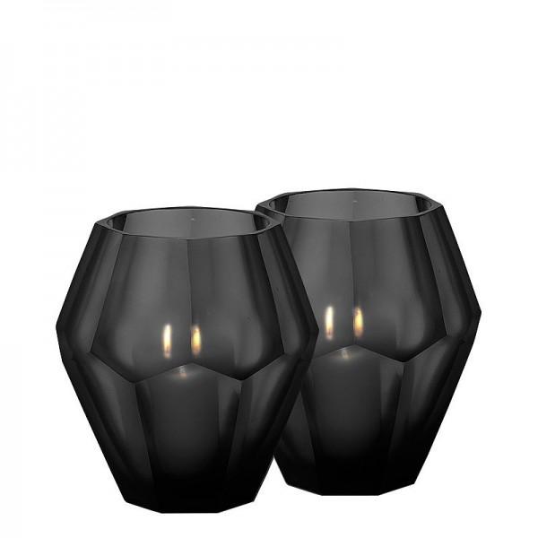 EICHHOLTZ Teelicht Okhto L schwarz Set von 2 Stk.