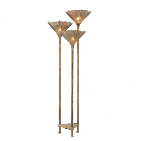 EICHHOLTZ Stehlampe Kon Tiki Triple Messing