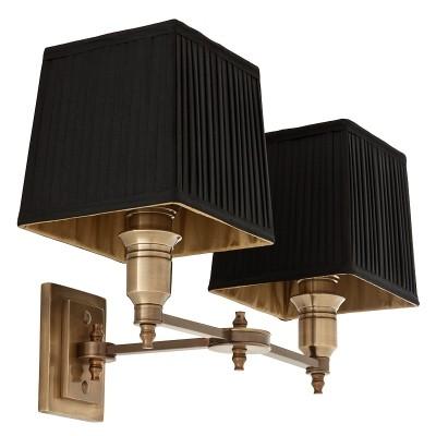EICHHOLTZ Wall Lamp Lexington Double brass Black
