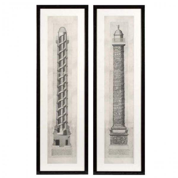 EICHHOLTZ Kunstdruck Columna Set von 2 Stk.