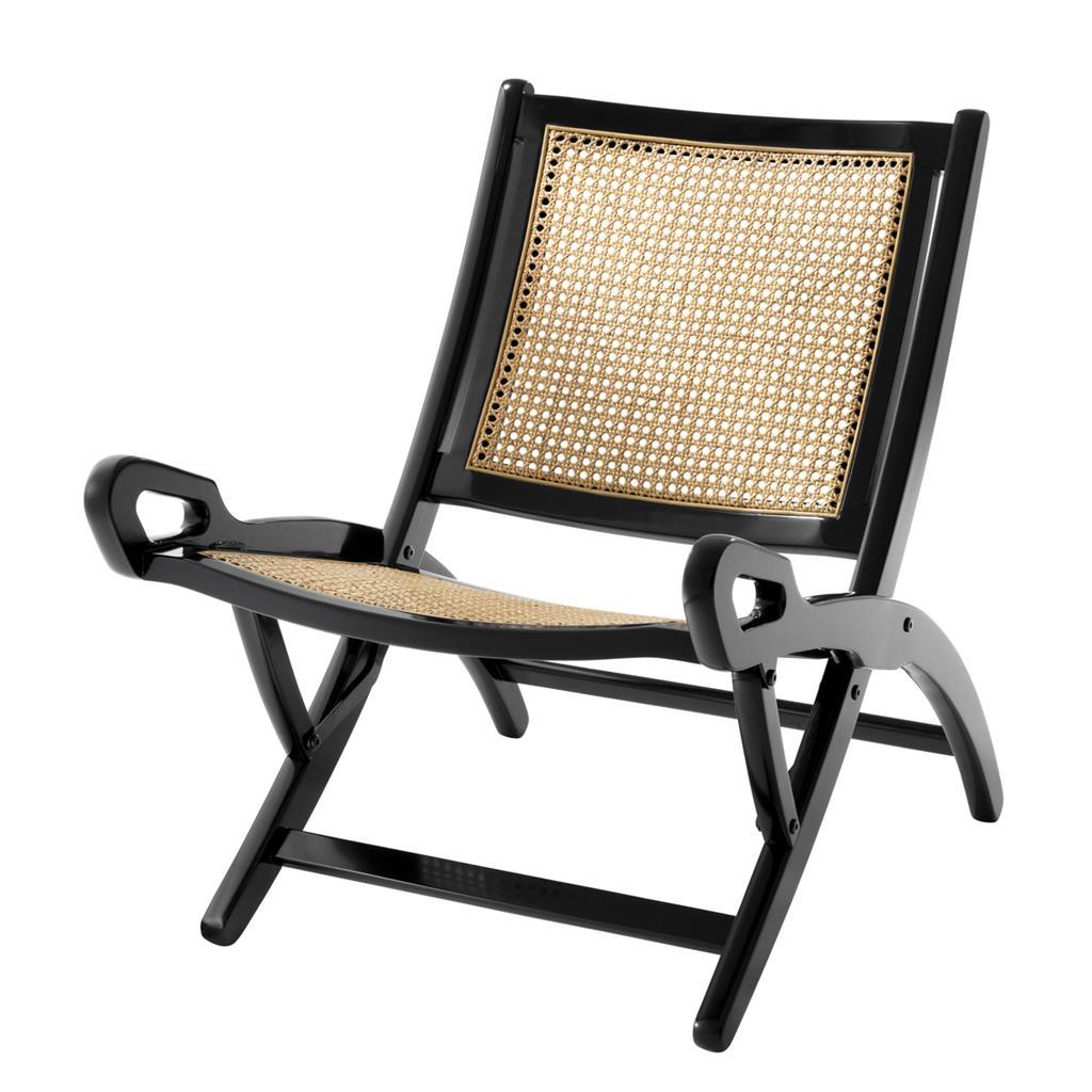 Folding Chair im Kolonialstil aus edlen Materialien