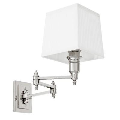 EICHHOLTZ Wall Lamp Lexington Swing nickel White