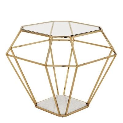 EICHHOLTZ Side Table Asscher gold