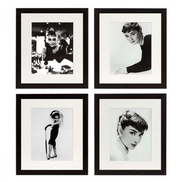 EICHHOLTZ Prints Audrey Hepburn Set von 4