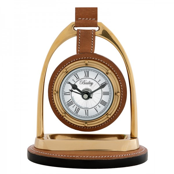 EICHHOLTZ Clock Bailey Equestrian black - nickel