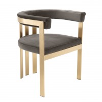 EICHHOLTZ Dining Chair Clubhouse Savona Grey Velvet