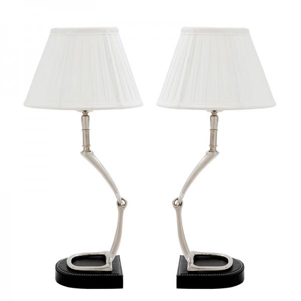 EICHHOLTZ Lamp Table Adorable Set von 2 nickel