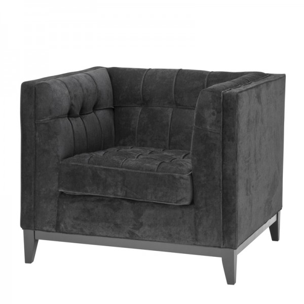 EICHHOLTZ Chair Aldgate black velvet