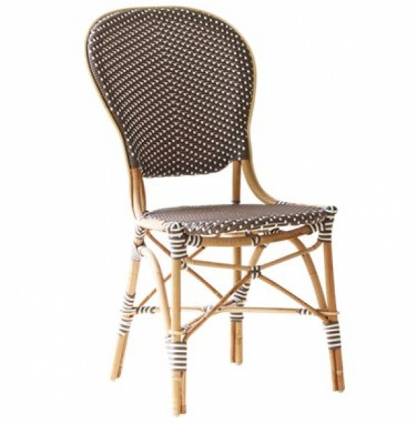 Sika Design Rattan-Stuhl Isabell Cappuccino 2er Set
