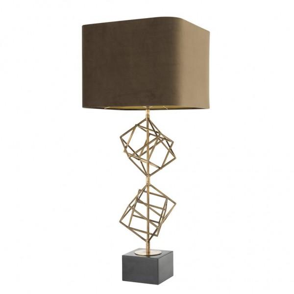 EICHHOLTZ Tischleuchte Matrix Brass - Sockel Granit