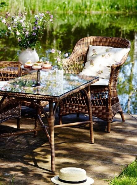 Sika Design Gartenmöbel Set Charlot & Victoria Chestnut