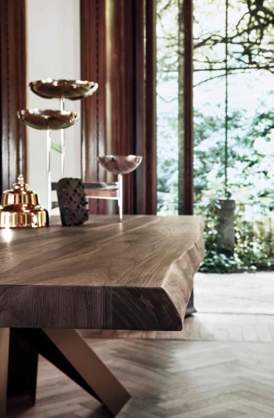 Bonaldo Tisch BIG - Amerikanische Walnuss mit Waldkante