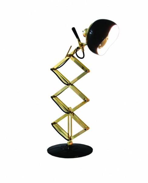 DelightFULL Tischlampe Billy Schwarz Gold