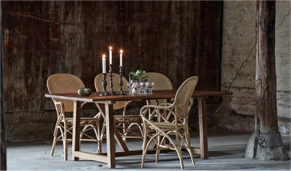 Sika Design Set Rattan-Stühle Rossini und Esstisch Lucas