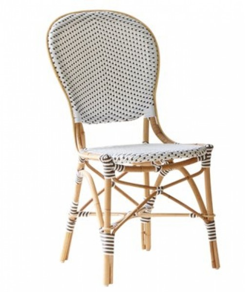 Sika Design Rattan-Stuhl Isabell Weiß 2er Set