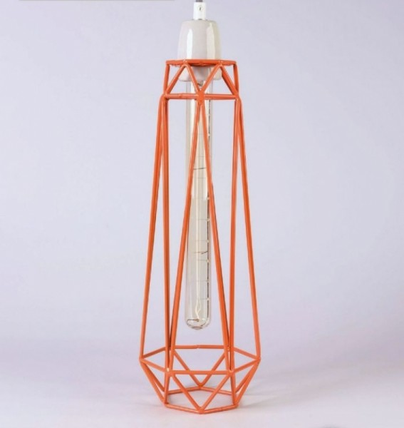 Deckenleuchte Diamond 2 Orange Grau