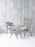 Sika Design Sessel Monet Taupe mit Fußhocker