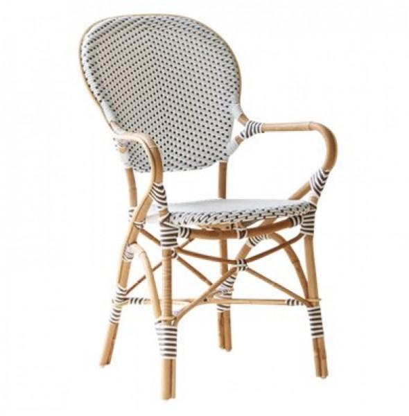 Sika Design Rattan-Stuhl Isabell mit Armlehnen weiß 2er Set
