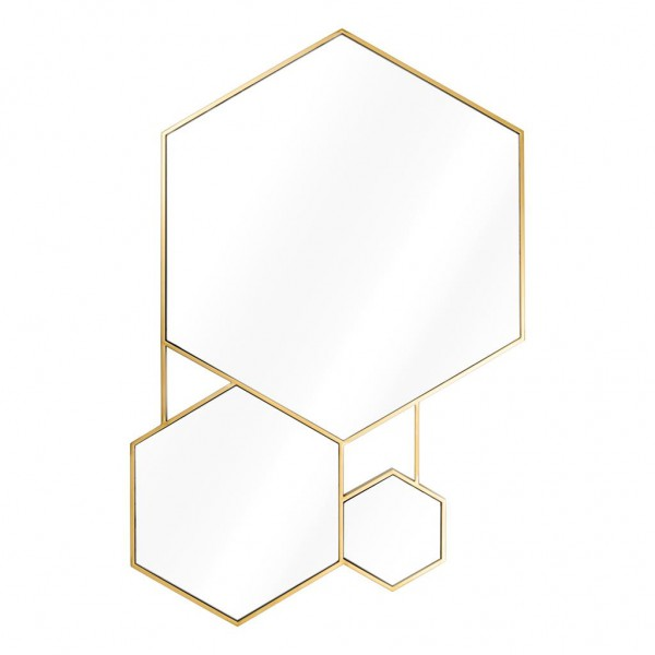 EICHHOLTZ Wandspiegel Hexa Gold