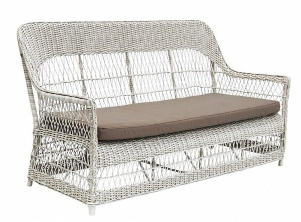 Sika Design 3-Sitzer Dawn Weiß mit Kissen