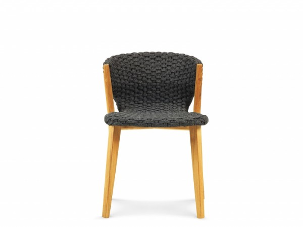 Ethimo Knit Stuhl ohne Armlehne Teak 2er Set