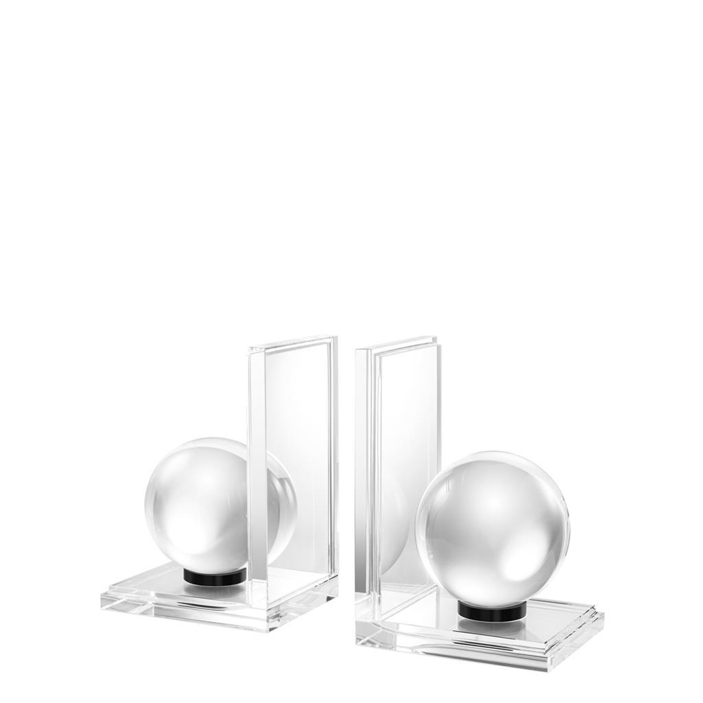 Buchstützen aus Kristallglas