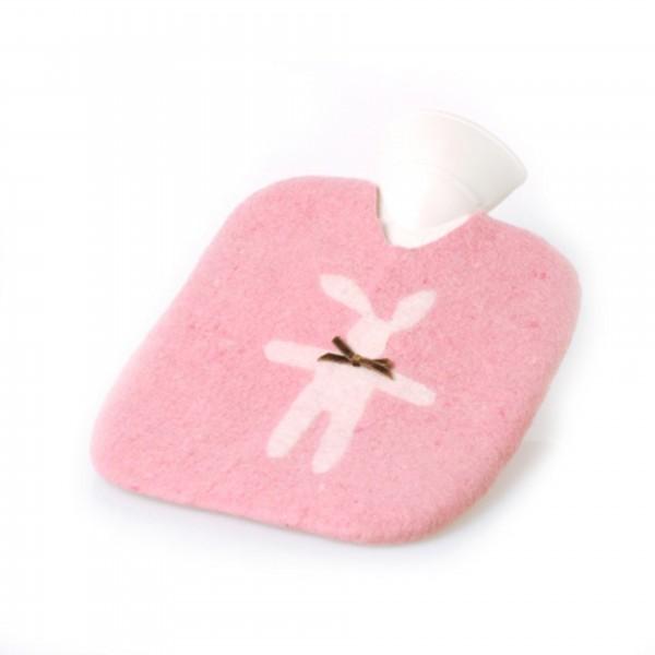 Katrin Leuze Wärmflasche Handfilz Hase rosa 1,85L