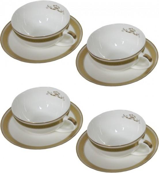Espressotassen mit Teller Golden Empire Set von 4
