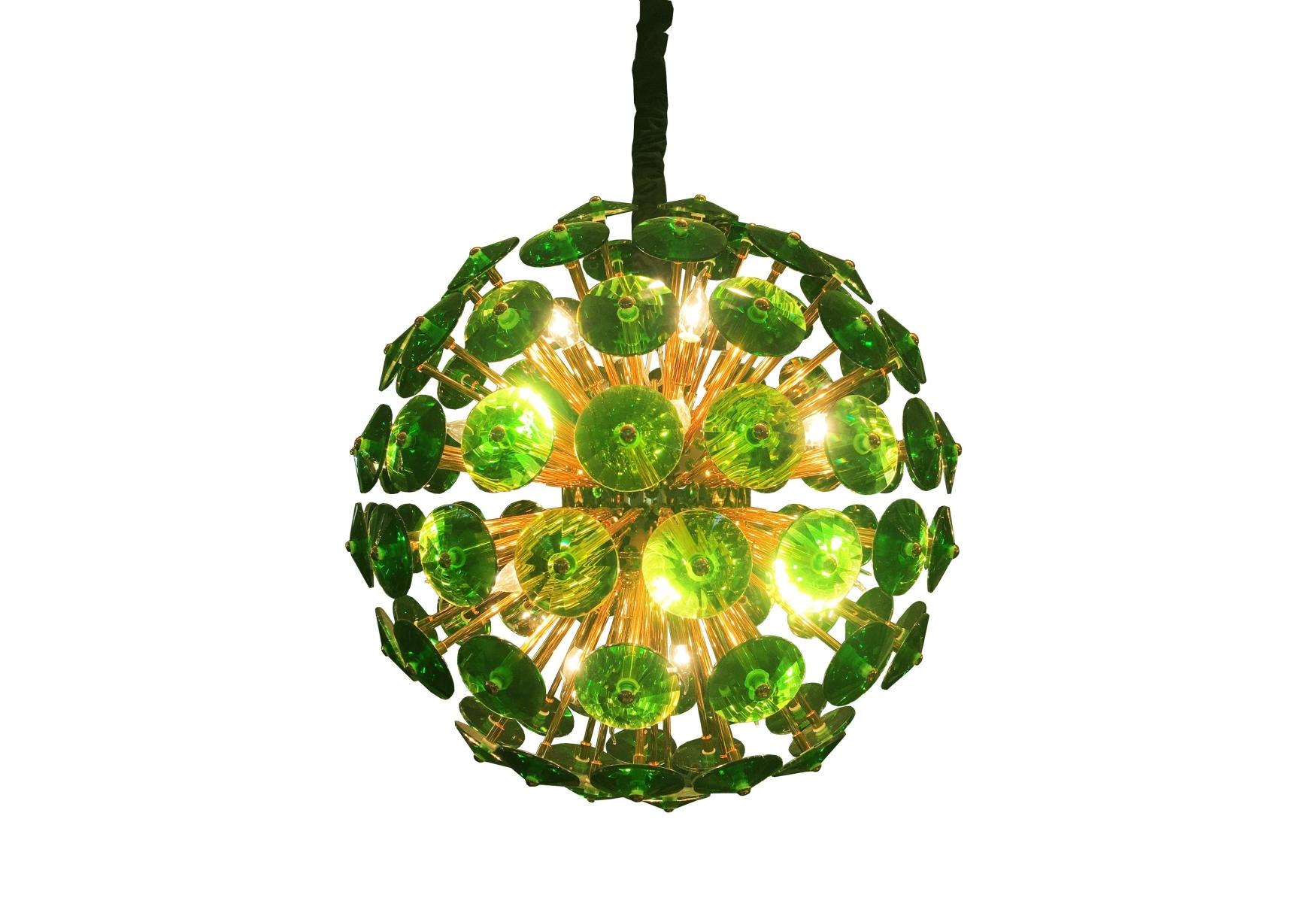 Exklusive Deckenlampe in Grün und Gold