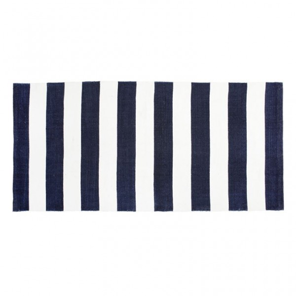 LENE BJERRE Badvorleger Rug stripes white blue