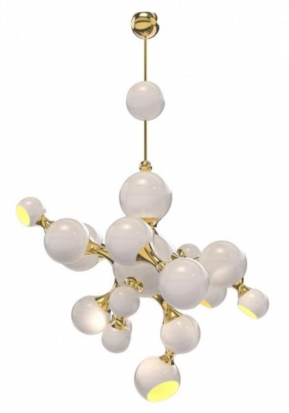 DelightFULL Atomic Deckenleuchte Weiß/Gold