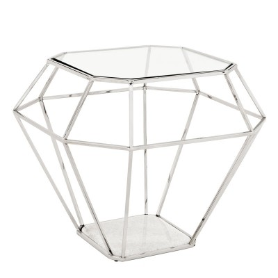 EICHHOLTZ Side Table Asscher nickel