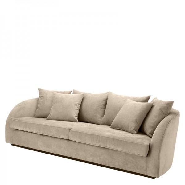 EICHHOLTZ Sofa Les Palmiers Greige velvet
