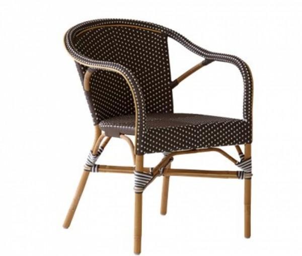 Sika Design Rattan-Stuhl Madeleine Cappuccino 2er Set