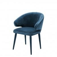 EICHHOLTZ Dining Chair Cardinale Roche teal blue velvet