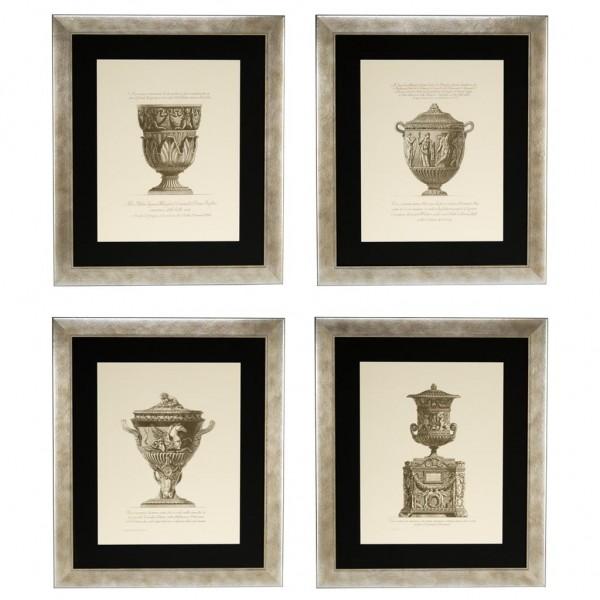 EICHHOLTZ Kunstdruck gerahmt Giovanni Battista Set von 4 Stk.