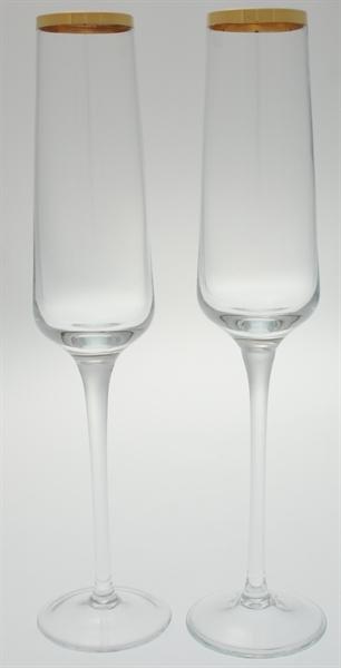 Champagnergläser mit Goldrand