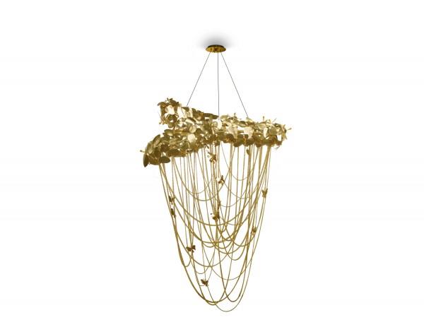 Luxxu Chandelier McQueen - 14 Karat Gold - Swarovski