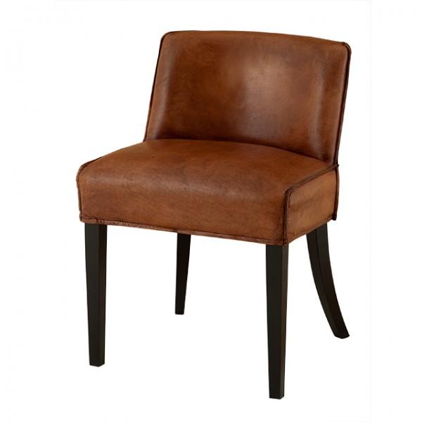 EICHHOLTZ Chair Barnes tobacco leather Set von 2