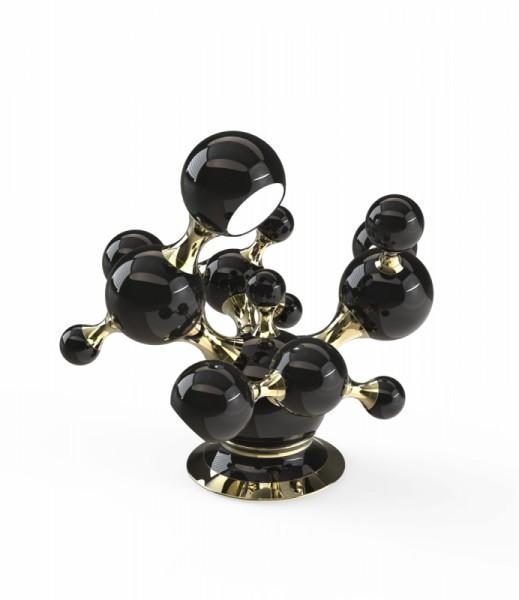 DelightFULL Tischlampe Atomic Schwarz Gold