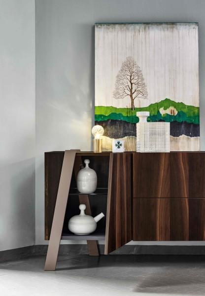 Bonaldo Sideboard Note - 180 cm breit, 2 Türen, Lade, Klapptür, Eiche