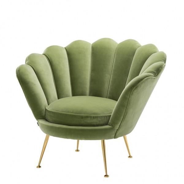 EICHHOLTZ Sessel Trapezium cameron light green