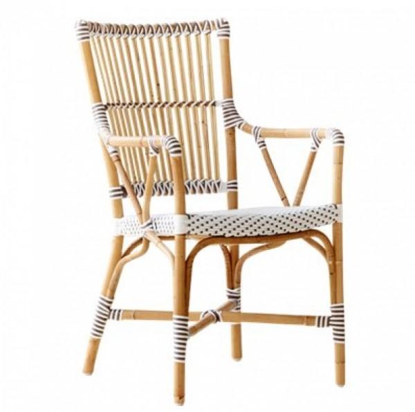 Sika Design Rattan-Stuhl Monique mit Armlehnen 2er Set