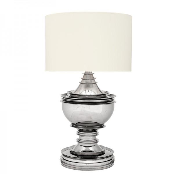 EICHHOLTZ Lamp Silom Nickel white shade
