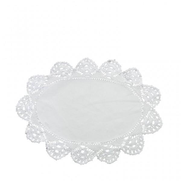 LENE BJERRE Tischset Coco oval weiss